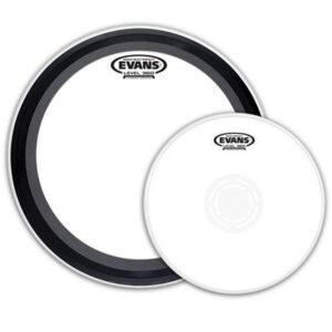 EVANS EBP-EMADHW Knockout Drum Head Pack Heavyweight (Bass 22inch & Snare 14inch)
